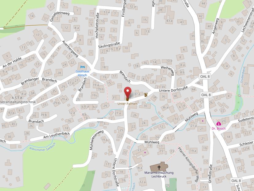 Auf OpenStreetMap zeigen